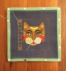 Leigh-Designs-Ginger-Coaster-Needlepoint-Canvas-2611-Katz-Koaster-CAT-DESIGN