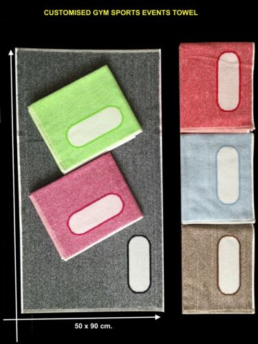 100/%Cotton Bi-Color Personalised box space Sports Gym Fitness Yoga Towel