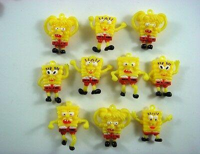 10 pcs SpongeBob Squarepants Jewelry Making Figures Charms Pendant + CHARM SET