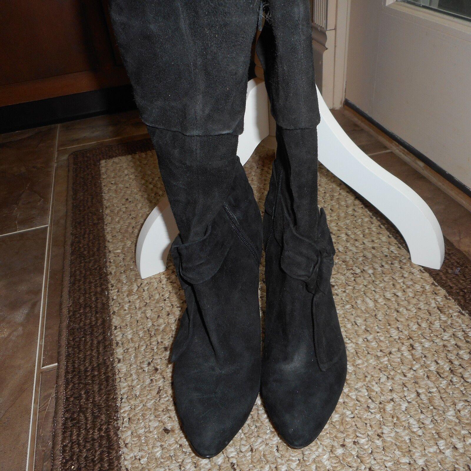 CIRCA JOAN & DAVID Women's Bow Tied Side Design Zipper Up Heel Boots