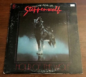 Steppenwolf-Hour-Of-The-Wolf-1975-Epic-PE-33583-Vinyl-LP-Record-Album