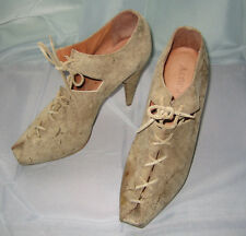 SUEDE PLATFORM SHOES BY ACNE JEANS IN SAND DISTRESSED LOOK 39 9 CHIC ITALY