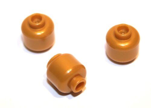 3x LEGO ® Testa Rosa 3626c NUOVO Perl ORO Pearl