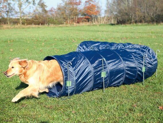 DOG TUNNEL - Training Dog Agility Tunnel Dark bluee - Large 5 Meters Tunnel