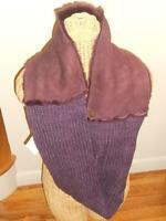 Ugg Eternity Sheepskin Knitted Chest Scarf, Blackberry,snood,nwt, Msrp $225