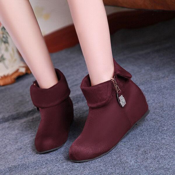 botas bajo zapatos botas militares burdeos marrón cómodo como piel 978