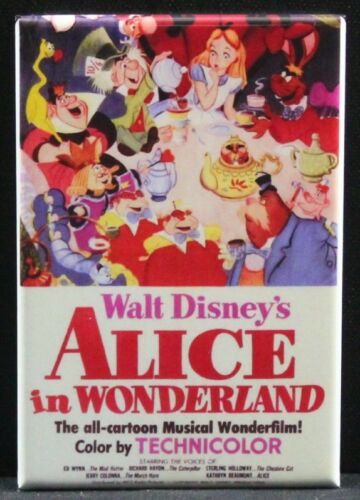 "Locker Magnet. Alice in Wonderland 2/"" X 3/"" Fridge"