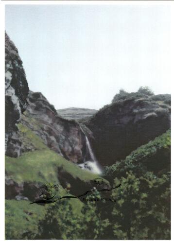 Postca Chute d/'eau Kunstpostkarte Wasserfall Waterfall Gerhard Richter