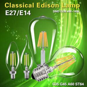 1//10 Stück E27 4//8//12//16W LED Edison ST64 Filament LED Lampe Glühbirne Glühlampe