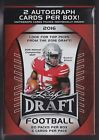2016 Leaf Draft Football unopened blaster box 20 packs of 5 cards 2 auto