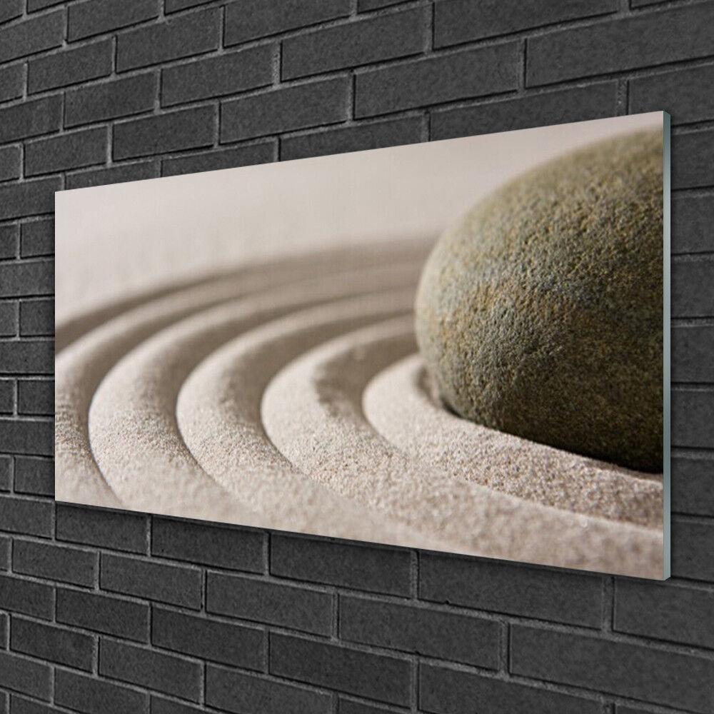 Tableau sur verre Image Impression 100x50 Art Sable Pierre