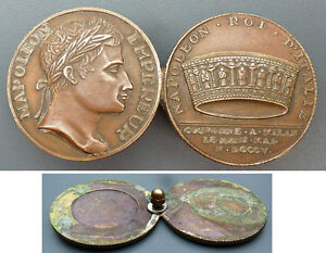 Médaille En Bronze Napoleon Empereur Roi D'italie N36qbav7-10044232-533654560