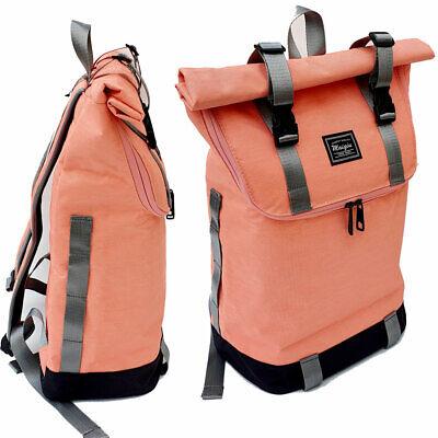 2in1 Damen Canvas Rucksack Tablet Laptop Tasche Schwarz City