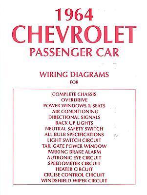1964 CHEVROLET WIRING DIAGRAM MANUAL | eBay