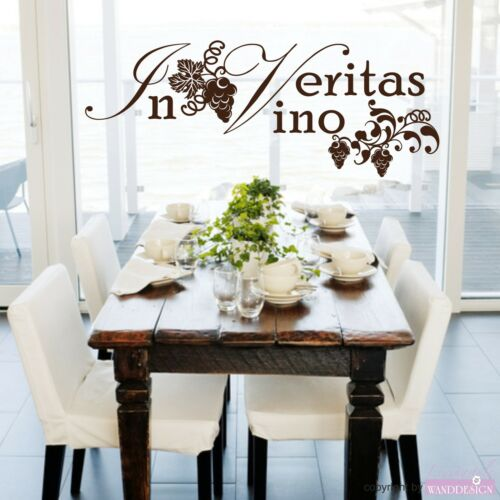 "Murales hechizo /""en vino veritas/"" vino Viña uvas pared Pegatina de pared Sticker"