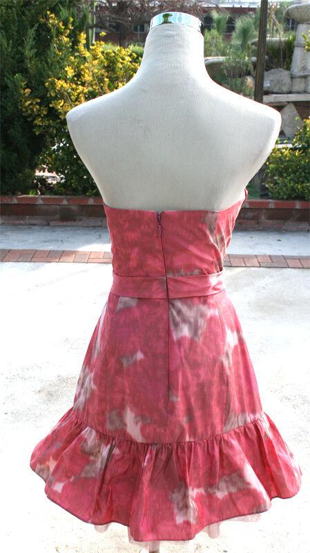 NWT BCBG MAX AZRIA   258 Red Ink Co Co Co Ball Dance Dress 12 328b17