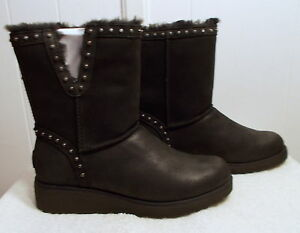 f14d4098296 Details about NEW UGG Leather Boots CYD Black Women's Size 11