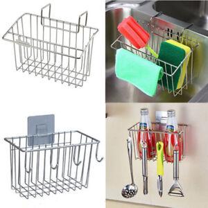 Image Is Loading 304 Stainless Steel Sponge Holder Kitchen Sink Brush