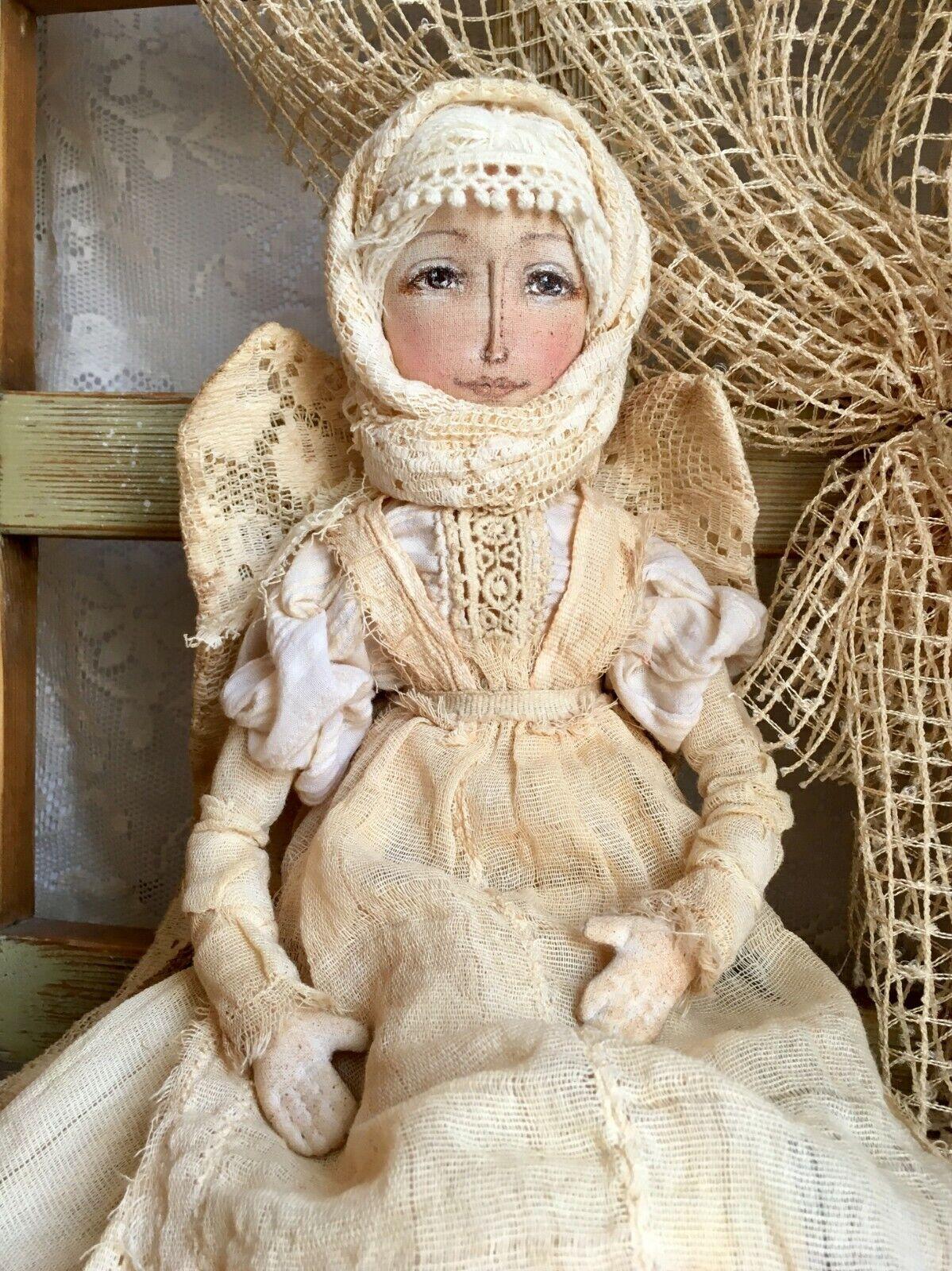Weisser Engel. Puppe. St.Petersburg ,Russland. Vintage, Handarbeit. Marke iydoll