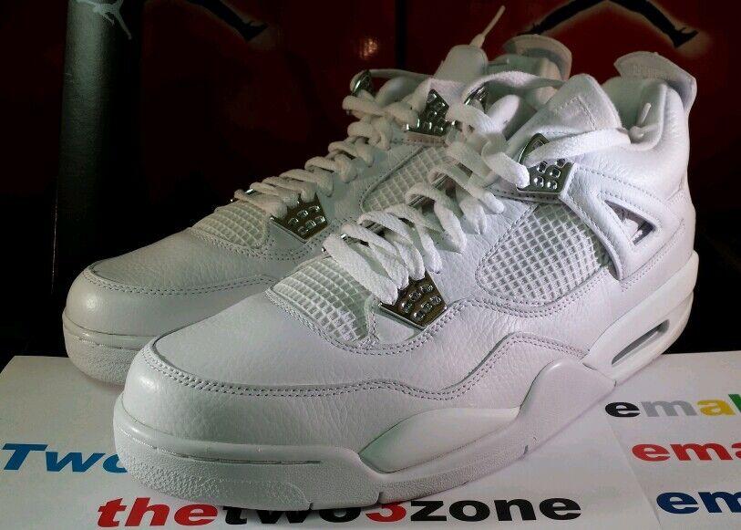 Nike Air Jordan 4 Retro Pure   WHITE sz 12 IV xi vii x iii legend bluee oreo tgold