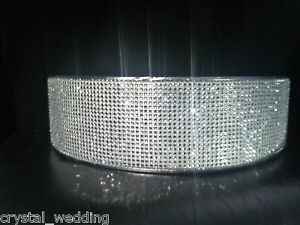 Image Is Loading Crystal Diamante Wedding Cake Stand Display Pedestal 3