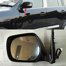 2xABS Black LH/&RH Side Mirror Frame With LED For Toyota Land Cruiser LC200 08-11