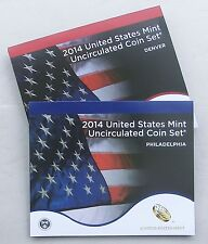 USA US Mint Uncirculated Coin Set 2014 D und P