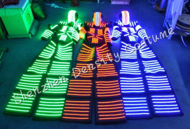 2018 LED Robot Costume Illuminated Suits - Premium with Laser Gloves!
