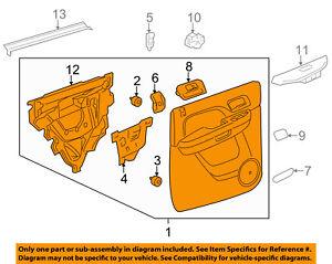 New GM 22640167 Interior Door Trim Panel Cap Plug Chevrolet Malibu OEM