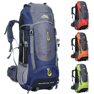 Image is loading Mountaineering-Backpack-Outdoor-Hiking-Bag-60L-Camping- Travel- bd323457e2
