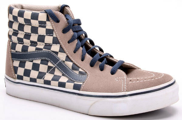 Vans zapatos sk8-hi chckrbrd Walnut 070 d Slate cment 556599 070 Walnut marrón azul fb072f