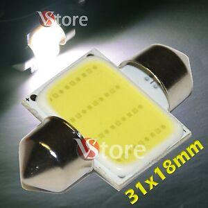 2-LED-Siluro-31mm-COB-SMD-12-Chip-BIANCO-Lampade-Luci-Lampadine-Interno-Targa