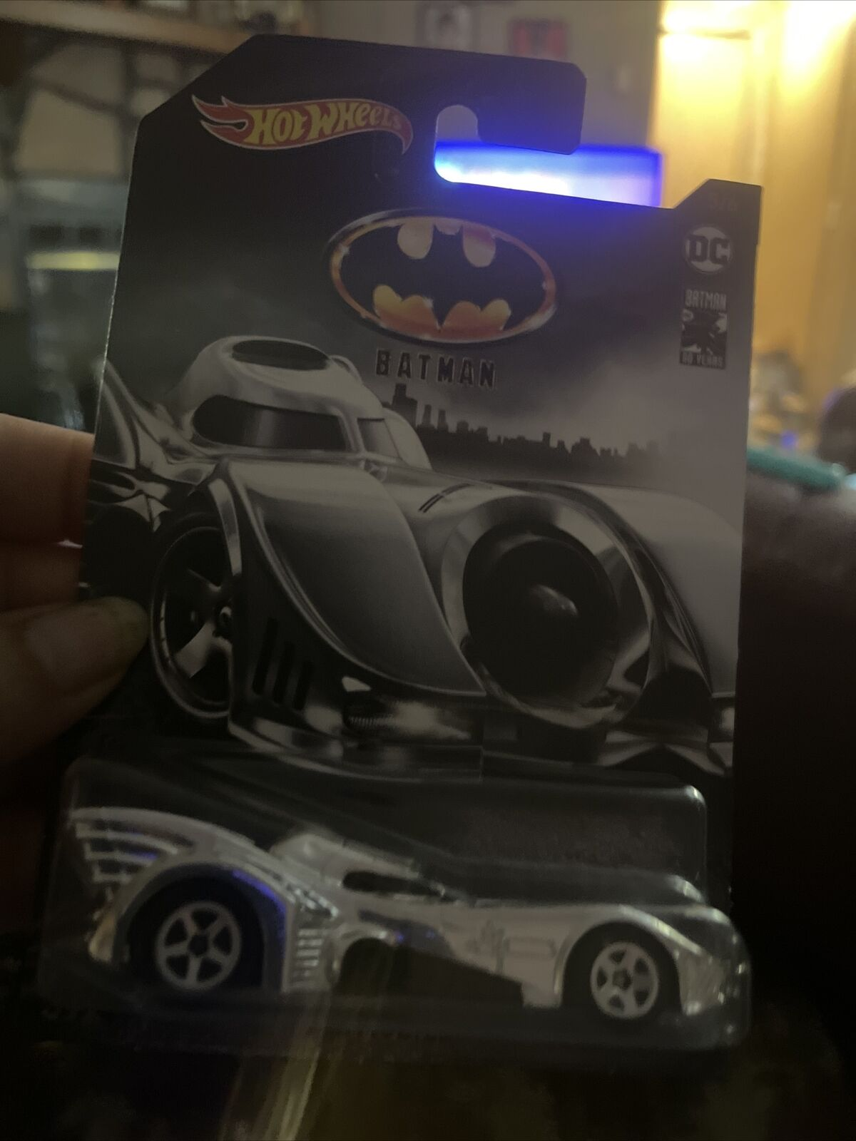 Details about  /BATMAN LIVE BATMOBILE 4 Blue Purple DC BATMAN 80 YEARS Walmart 2019 Hot Wheels
