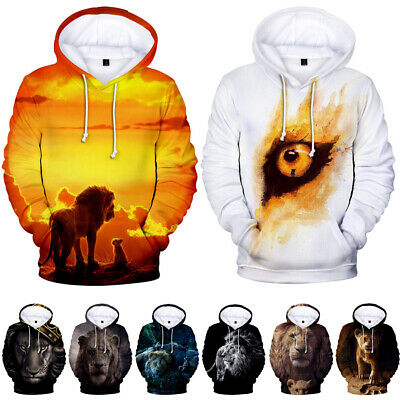 New Movie The Lion King 3d Print Hoodies Sweater Sweatshirt Jacket Pullover Tops Ebay