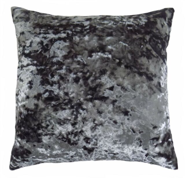 """LUXURIOUS SILVER CRUSHED VELVET THICK SOFT CUSHION COVER 20/"""" 50CM"""