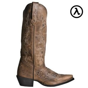 LAREDO-CROSS-POINT-13-034-RUST-WOMEN-039-S-LEATHER-WESTERN-BOOTS-52033-ALL-SIZES