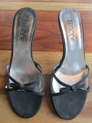 Gorgeous Heel Size Black 70mm Sandals Slingback Silver Heels 36 Episode rrzqRFf