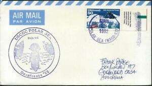 USA (1991) Cover Cancelled 'USCG WAGB-11  Polar Sea'  + PENGUIN Cachet  [A0601]