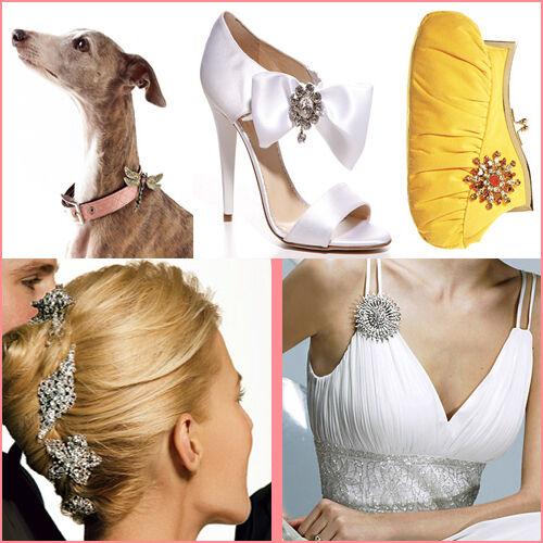 Broche De Plata Flor Diamante Vintage Zapato Pin Bridal Pastel Decoración New Reino Unido