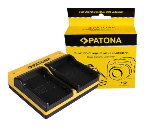 Caricabatteria USB dual Patona per Canon BP-927,BP-930,BP-941