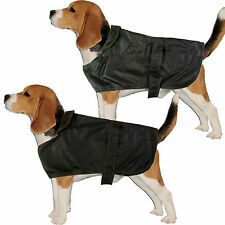 NEW WATERPROOF WAX DOG COAT BRITISH WAXED COTTON RAIN OUTDOOR JACKET PUPPY COATS