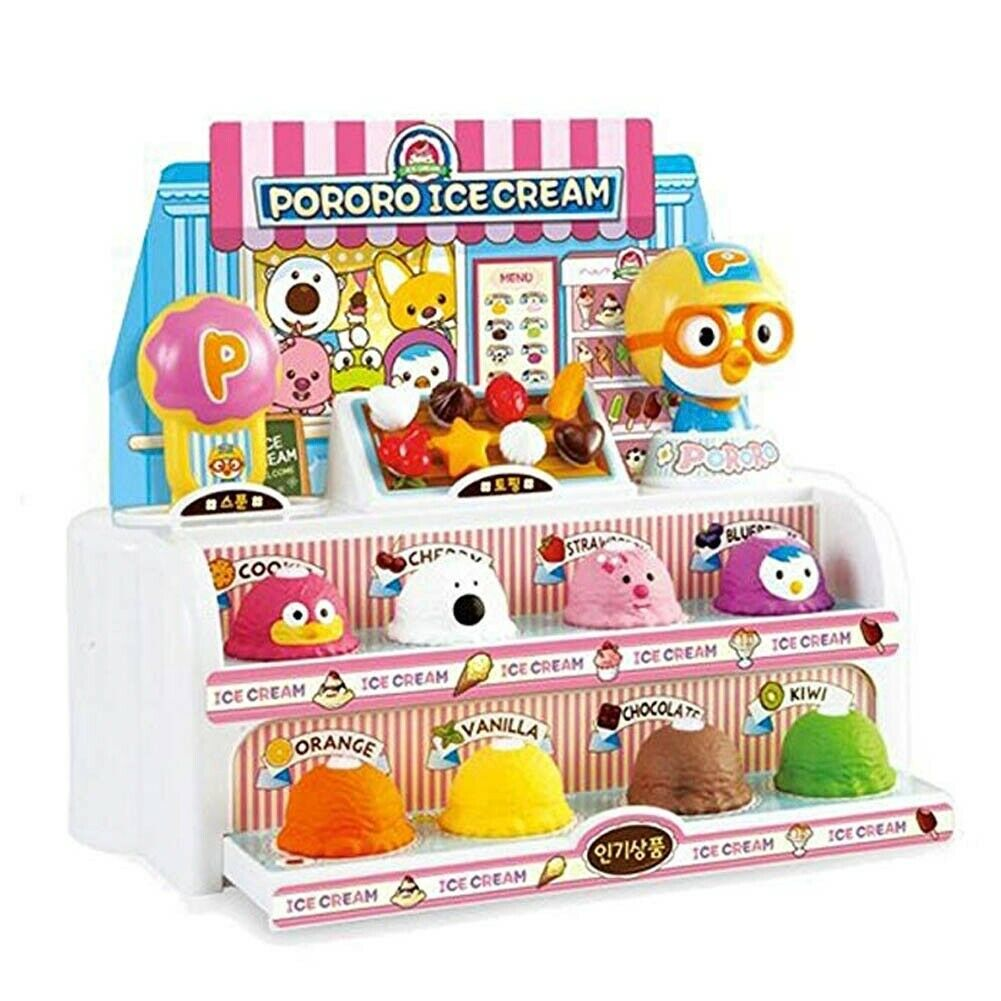 PGoldro Kinder Ice Cream Shop Play Set, Scoop Stacking Spielzeugs Pretend Play Role-play