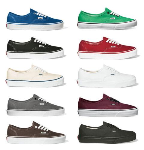 Nuovo Tela Sneaker Authentic Vans Classico Scarpe Uomo Donna w0aYSqg