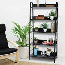 4//5 Tiers Book Ladder Shelf Plant Flower Stand Storage Rack for Home CT HB