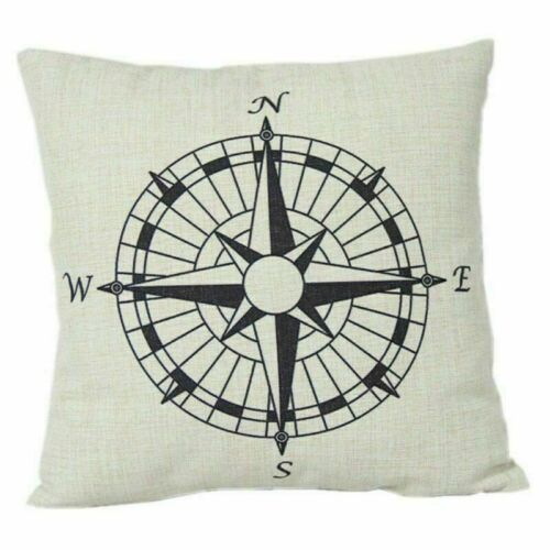 """18/"""" Marine Ocean Creature Cotton Linen Pillow Case Cushion Sofa Cover Home Decor"""