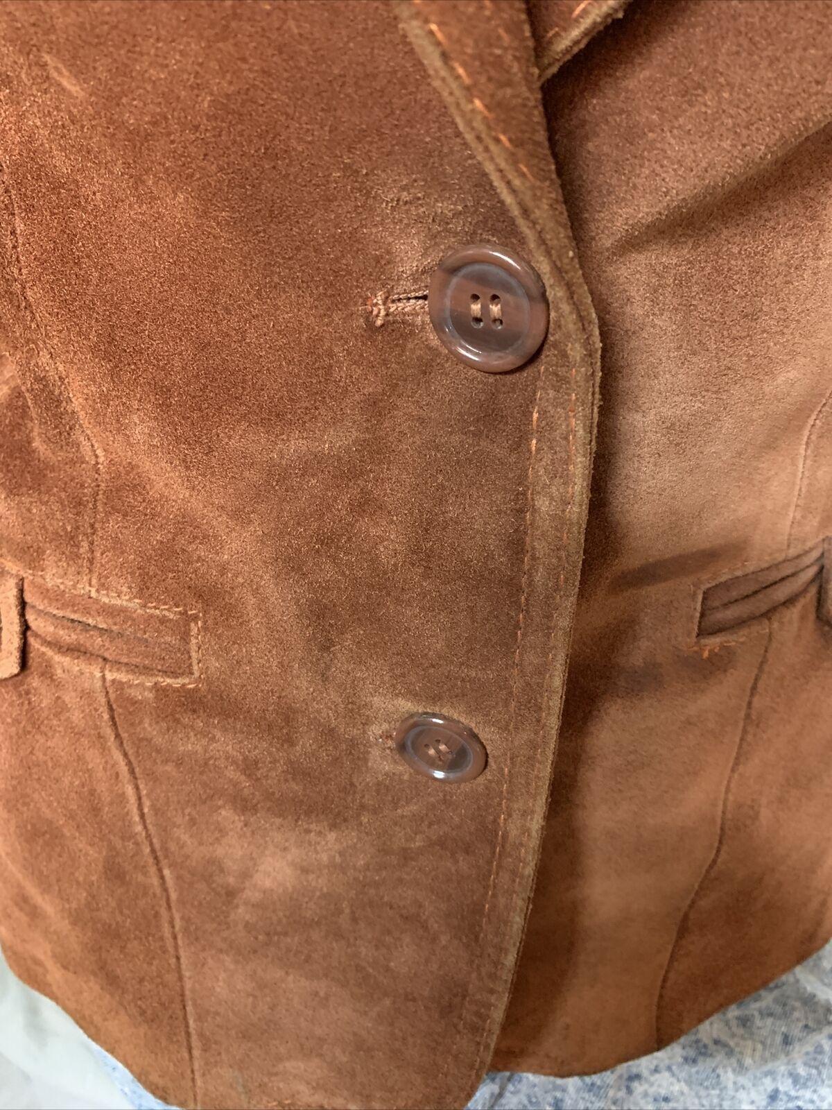 Vintage 1970s Casual Corner Leather Suede Brown J… - image 3