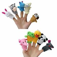 10 Cute Zoo Animal Story Time Finger Puppet Set/Toy/Baby Shower Favors/Play A1