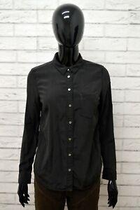 LEVI-039-S-Camicia-Donna-in-SETA-Taglia-Size-S-Maglia-Chemise-Camicetta-Nero-Shirt
