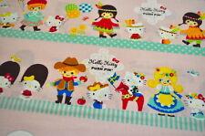 HELLO KITTY KOKKA JAPAN Baumwollstoffe USA Designerstoff  0,5m x 1,10m Kinder b