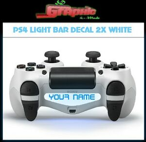 Ps4 controller white light lightneasy ps4 white controller light bar decal 2x custom personalised vinyl aloadofball Image collections